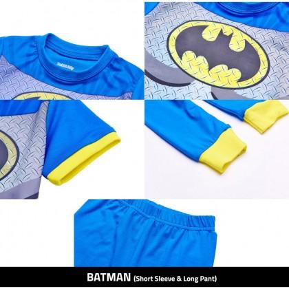 Biziborong 2 - 8 YO Cartoon Pajamas Superhero Kids Cloth Long Sleeve Pant Suit Shirt  - R275