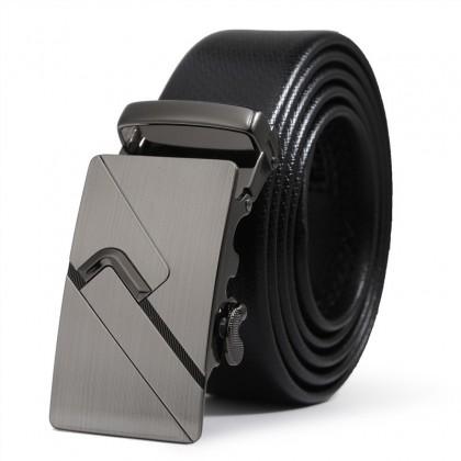 Biziborong Men Adjustable Leather Automatic Buckle Belt - R805