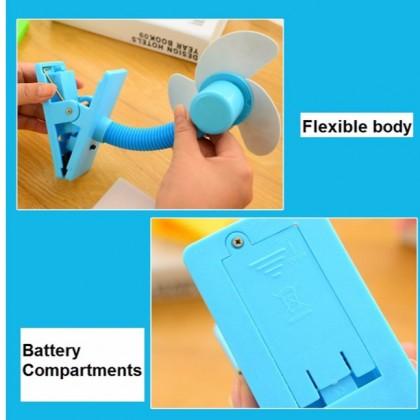 Biziborong USB Battery Stroller Clip On Safety Portable Cradle Fan - R479
