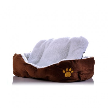 Biziborong Comfortable Cotton Pet Bed With Removable Pad - R315