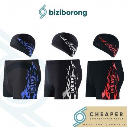 Biziborong Men's Swimming Trunk Pant with Cap Set - R66