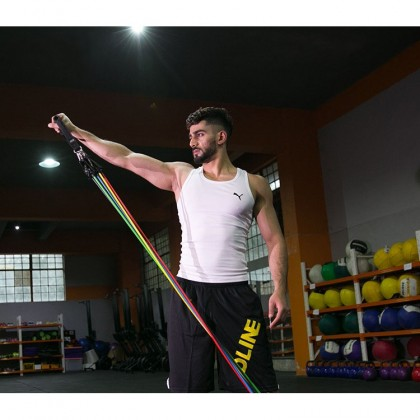 Biziborong 11 Pcs READYSTOCK Muscle Rope Resistance Band With Cover Bag  R630
