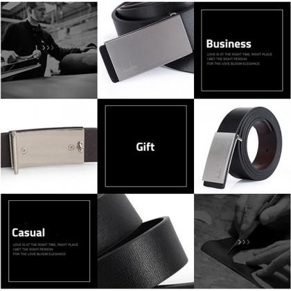 Biziborong  Men Adjustable Leather Hole Buckle Belt  R550