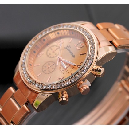 Biziborong Elegant Lady Quartz Stainless Steel Watch Strap R633