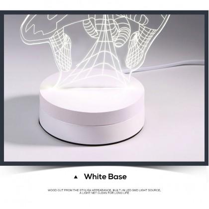Biziborong Home Deco Hologram White Yellow 3D Led Light - R490