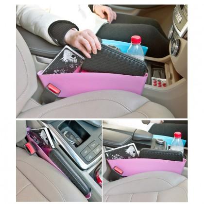 Biziborong 2 In 1 Catch Caddy Car Slit Organizer Pocket Storage Catcher R288