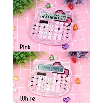 Biziborong Hello Kitty Diamond Decoration Cute Solar Digital Calculator  R821