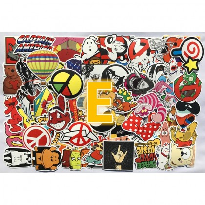 Biziborong Stickers Vintage Laptop Luggage Car (100 Pcs) R515