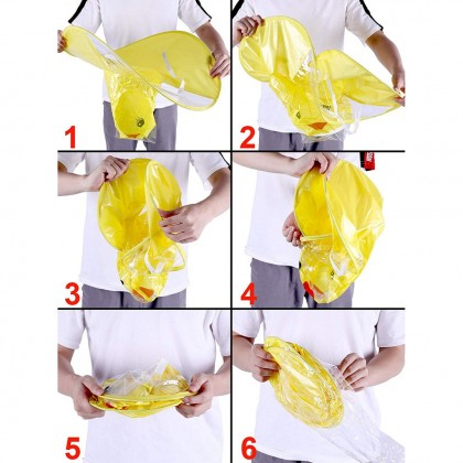 Biziborong  Kids UFO Duck Umbrella Raincoat Hat R900