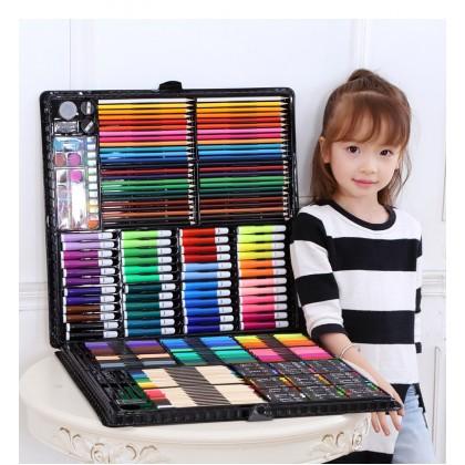 Biziborong 258pcs Kids Painting Watercolor Color Pencil Art Drawing Set R959