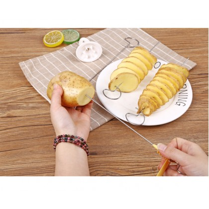 Biziborong Stainless Steel Potato Chips Spiral Curly Cutter - R237