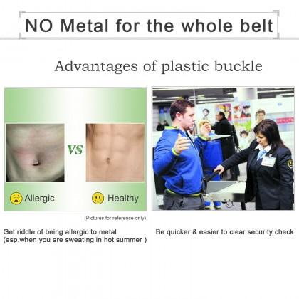 Biziborong Men Nylon Tactical Web Plastic Buckle Lock Belt - R998