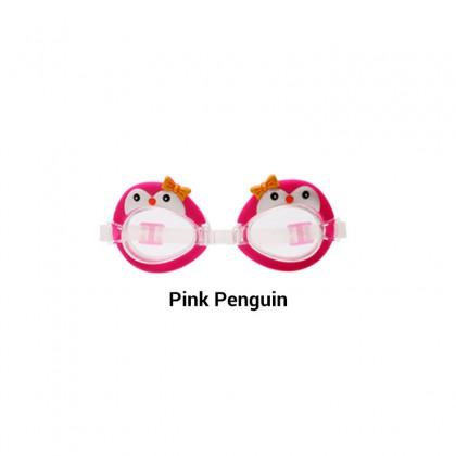 Biziborong Cute Animal Fish Penguin Swan Frog Kids Anti Fog Swimming Swim Goggles - R1007