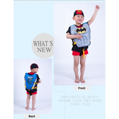 Biziborong Kids Safety Swimming Swim Superhero Life Jacket Float Vest - R1012