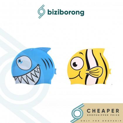 Biziborong Fish Kids Safety Cartoon Silicone Swimming Cap - R1019