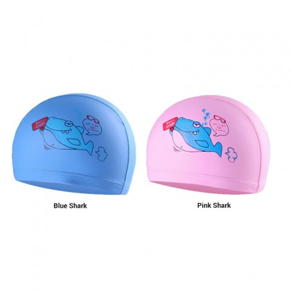Biziborong 2 Colors Kids Safety Shark Silicone Swimming Cap - R1020