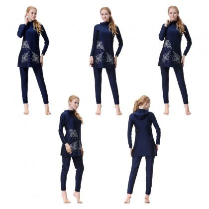 Biziborong Muslimah Swimming Suit Burkini Ladies Woman Pakaian Renang Wanita - RA5