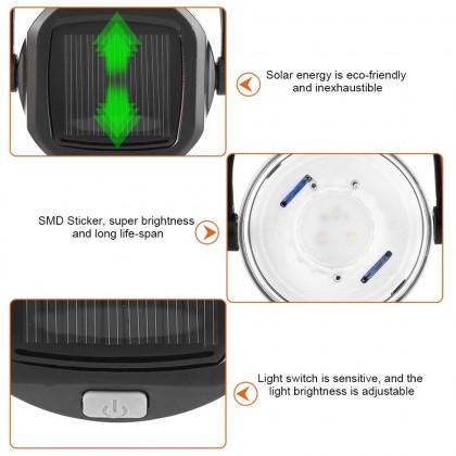 Biziborong Solar LED Light USB Power Bank Foldable Water Bottle - RB15