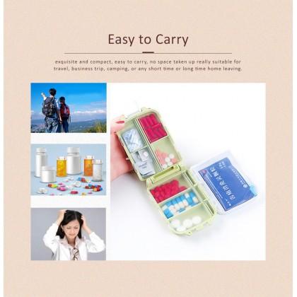 Biziborong Portable 8 Divided Compartments Storage Box Organizer Pill Medicine Holder - RB26