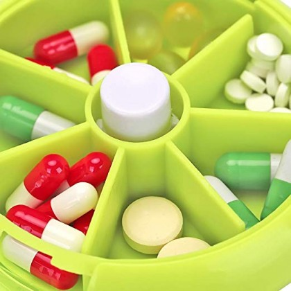 Biziborong Portable 7 Compartments Storage Box Organizer Pill Holder - RB27