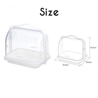 Biziborong Portable Transparent Kitchen Bathroom Storage Organizer Container Box Rack - RB31