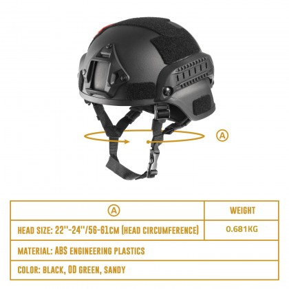 Biziborong Army Safety Combat Tactical Head Protective Helmets For Paintball Cycling Bike - RA86