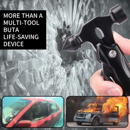 Biziborong Magic Tool Multifunctional Plier Hammer Car Emergency Escape Camping Household - RB59