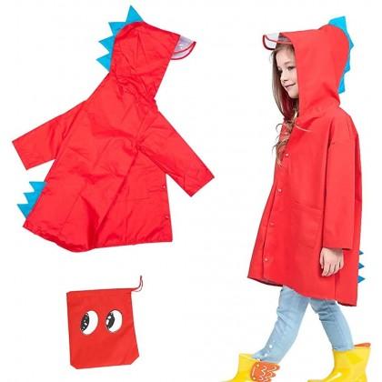 Biziborong Dinosaur Rain Coat for Kids Boy & Girl Toddler Jacket Rainwear - RB64