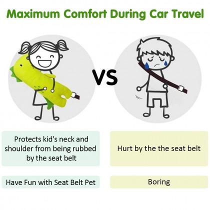 Biziborong Car Seat Belt Pillow Kids Head Rest Support Adjuster Shoulder Pad - RB67