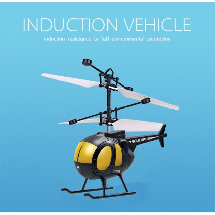 Biziborong Hand Sensor Induction Fun Mini RC Aircraft Helicopter Kids Flying Toy With Light - RB96
