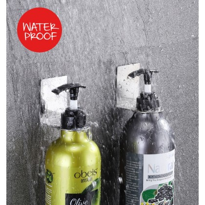 Biziborong Wall Mounted Self Adhensive Bathroom Kitchen Bottle Dispenser Stainless Steel Holder - RB90