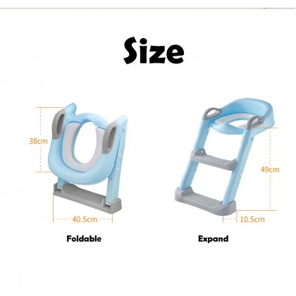 Biziborong Toilet Bowl Potty Training Seat with Adjustable Ladder Nursery for Kids - RC27