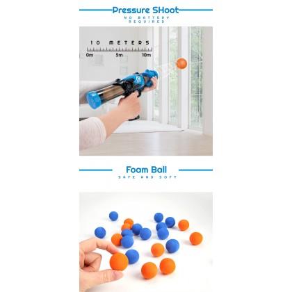 BIziborong 2 in 1 Soft Foam Ball Shooting Battle Game with Scoring Robot Gun Set Kids Toy - RC28