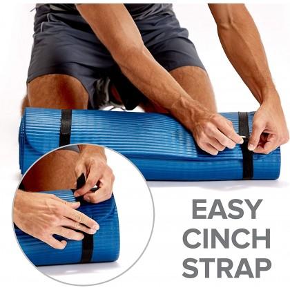 Biziborong 10 / 15mm ; 61 / 80 / 90 cm (Free Carry Strap) Extra Thick NBR Yoga Mat Fitness Non - Slip - RC34