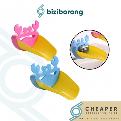 Biziborong Crab Faucet Extender Sink Handle Fun Help for Hand Wash Water Pipe Hose Kids - RC40