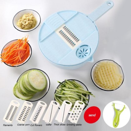 Biziborong 12 in 1 Vegetable Choppers Multi-Function Food Cutter with Stainless Steel Blades Food Dicer - RC61