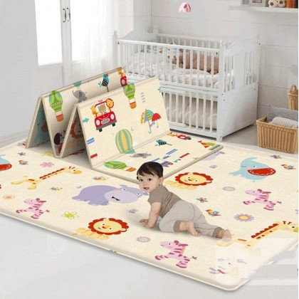 Biziborong Lion Animal Double Side 180cm Baby Kids Folding Crawling Activity Play Mat Indoor Outdoor - RC77