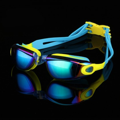 Biziborong Kids Tinted Anti Fog Wide View UV Coated Swimming Goggles - RE23