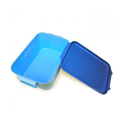 Biziborong 29cm Kids Small Storage Box Bin Organizer with Base Plate Cover for Building Blocks Bricks - RE49