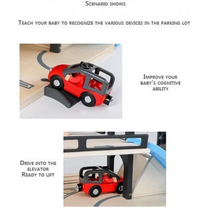 Biziborong Kids Magnet Vehicle Lift Car Park Parking Lot Set Toy Permainan Kereta Kanak Kanak - RE53