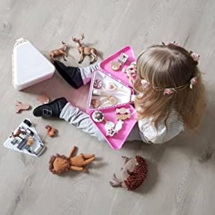 Biziborong Kids Bricks Small Blocks Toy Storage Box Cute Eye Sticker Triangle Lunch Box Permainan Kanak Kanak - RE61