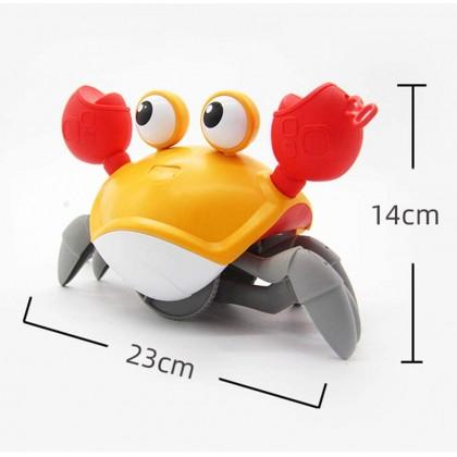 Biziborong Walking Swimming Moving Floading Wind up Cute Crab Bath Kids Baby Bathtub Beach Water Toy - RE62