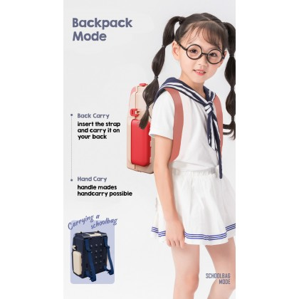 Biziborong 2 in 1 Cute Bear Kids Toy Pretend Play Kitchen Playset Transform Backpack Bag Permainan Kanak Kanak Masak - RE68
