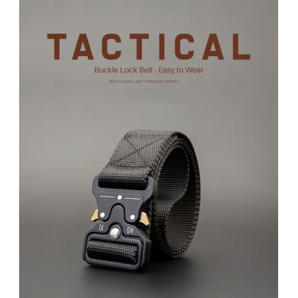 Biziborong Metal Buckle Army Men Tactical Belt Military Taktikal Tali Pinggang Lelaki - RE73