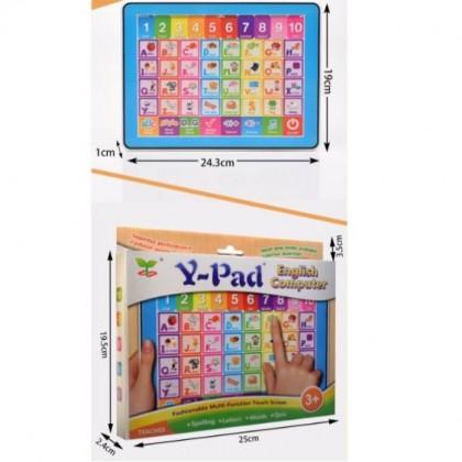 Biziborong Y Pad English Learning Kids Educational Toy Tablet Laptop - RF45