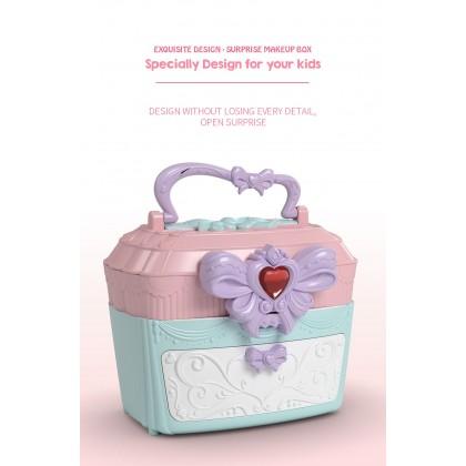 Biziborong 12pcs Kids Music Light Make Up Cosmetic Pretend Play Box Girls Toy Makeup Mainan Perempuan - RF68