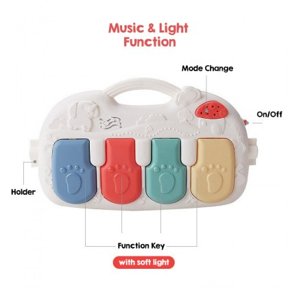 Biziborong Baby Kick Play Playmat Playgym Piano Newborn Toy Music Activity Musical RF93