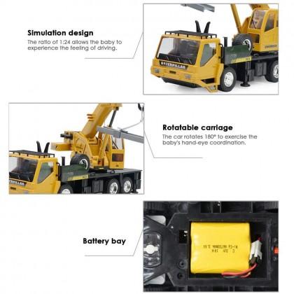 Biziborong 2.4Ghz 8 Channel Crane Truck Remote Control RC Car Kids Toy Construction Rechargeable Kereta Kontrol - RF94