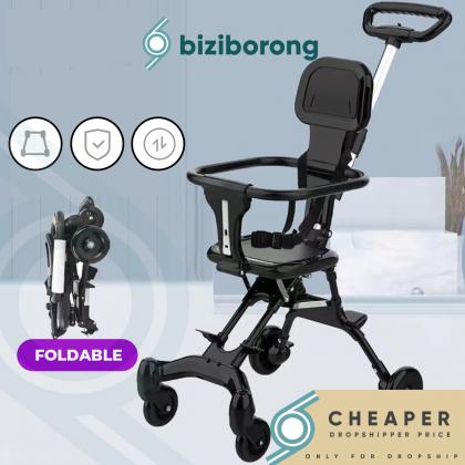 Biziborong Kids Baby Magic Stroller Ultra Lightweight 4 Wheels Tricycle Bicycle Travel Cart  2-Way Facing - RF91