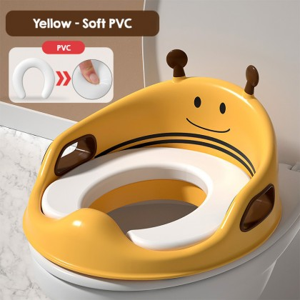 Biziborong Bee Baby Children Kids Potty Training Toilet Seat with Handle Fit Toilet Bowl Chair Soft Cushion  - RF76